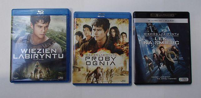 Wiezień Labiryntu + Próby Oognia + Lek na śmierć Blu-ray i Blu-ray 4K
