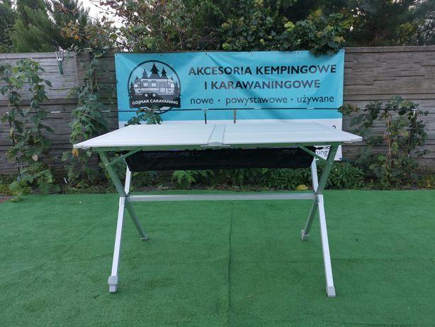 Stół aluminiowy Berger z gazetnikiem