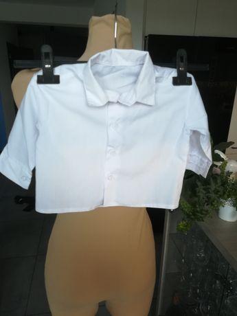 Biała koszula r. 74 80 dla chłopca