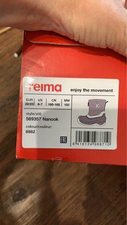 Продам зимние сапоги reima 22-23  размер, 152 мм