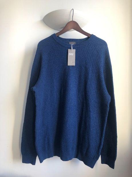 Sweter męski H&M nowy z metką, niebieski, L