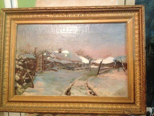 Продам старинный пейзаж 1893г.
