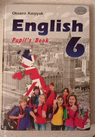 Учебник підручник англійської мови для 6 класу Карп'юк