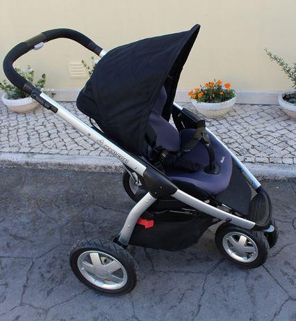 Conjunto Carrinho de bebé Maxi Cosi Mura 3 + Ovo Bebé Confort Pebble