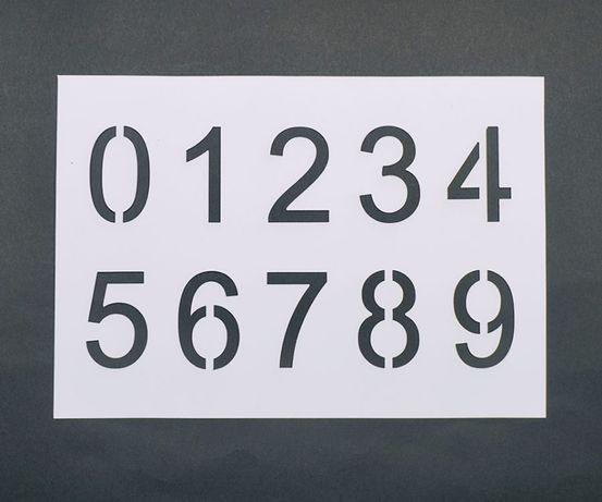 Трафарет всех цифр 0-9 высота 5см