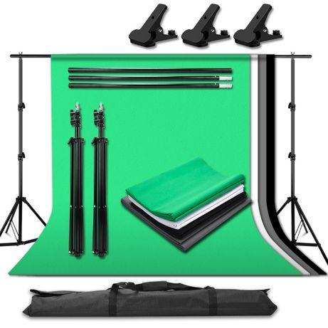 [NOVO] Kit de Estúdio de Fotografia com 4 Fundos - 2 Metros x 2 Metros