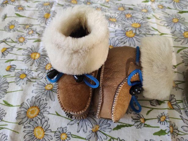Сапожки детские, ботиночки, натуральный мех