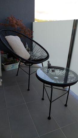 Cadeira Acapulco Corda com mesa