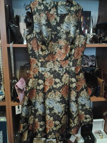 KAREN MILLEN piekna oryginalna rozkloszowana sukienka rozm M/L nowa