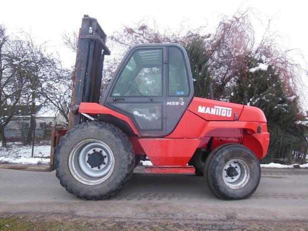 Terenowy wózek widłowy widlak manitou m26-2 rok 1997 udzwig 2.6 tony