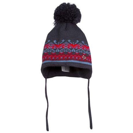 Детская шапка с ушками зимняя вязаная для мальчика