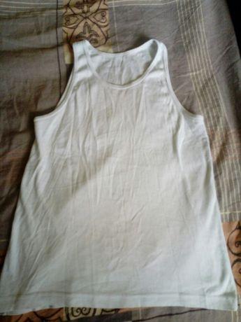 Biala koszulka na ramiaczkach na ok.140 cm