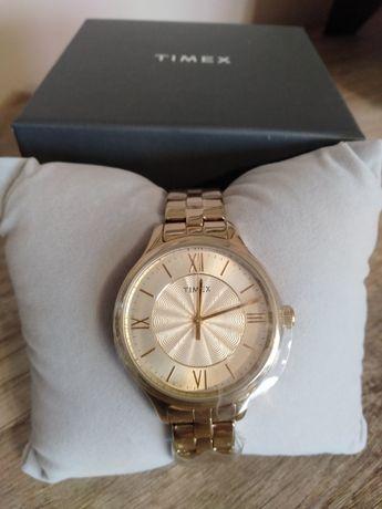 Zegarek damski złoty TIMEX TW2R28100 nowy folie gwarancja