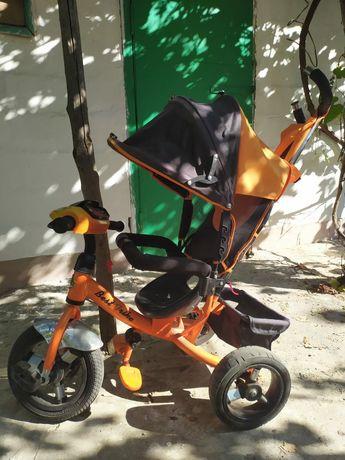 Детский велосипед трёхколёсный с родительской ручкой best traike