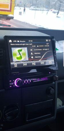 Radio peiying z wysuwanym  dotykowym ekranem 7cali i kamerą cofania
