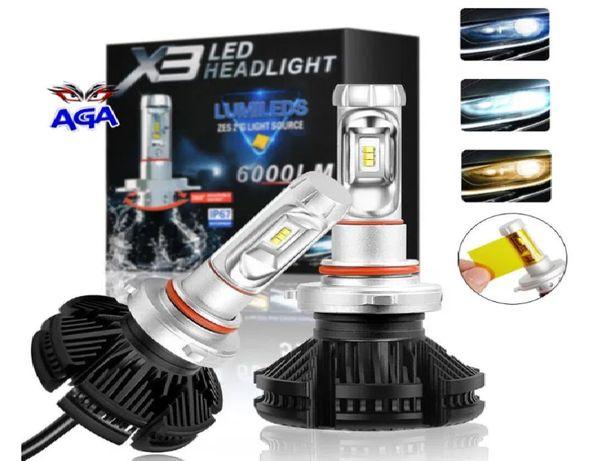"""Żarówki LED H7 """"X3 Zes Chi"""" 50W DZIEŃ/NOC 12000lm 3500K/6500K/8000K"""