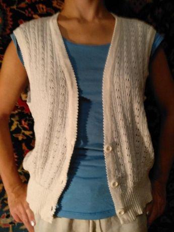 Блестящий жилет ажурный кофта нарядная на девочку в школу на блузу