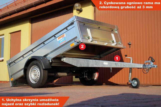 SPAWANA przyczepka 236x129x45 Neptun 236 PRR na resorach MOCNA!
