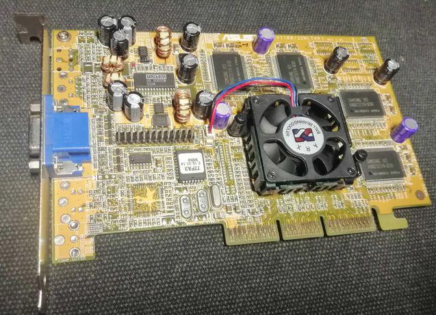 nVidia GeForce 2 GTS, AGP, retro sprawna 100% Asus agp-v7700