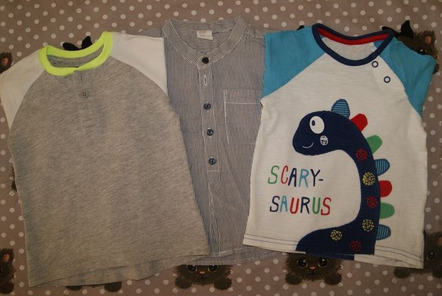 10szt bluzek +4 szt spodnie 74-80 9/12m/koszule,kamizelka
