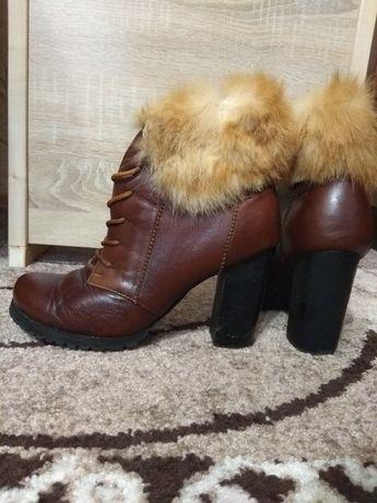 Сапоги зимние кожаные.