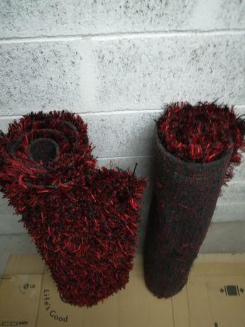 Tapetes de quarto HAWAII Black/Red 80x150