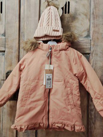 Newbie GRATIS czapka44/46 rozowa nowa kurtka 86 zimowa