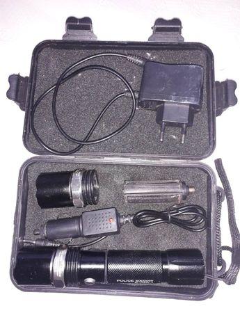 Тактический фонарь Bailong BL-T8626-2+ультрафиолет под ремонт