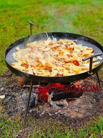 50см Сковорода з диска борони, для костра дачи барбекю садж ОПТ мангал