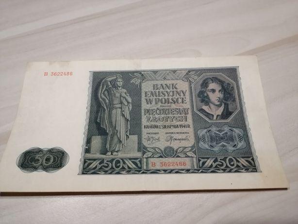 50 złotych 1941 r. Bank Emisyjny w Polsce