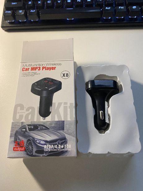 Transmiter FM Bluetooth Dual ROZMOWY ŁADOWANIE MP3