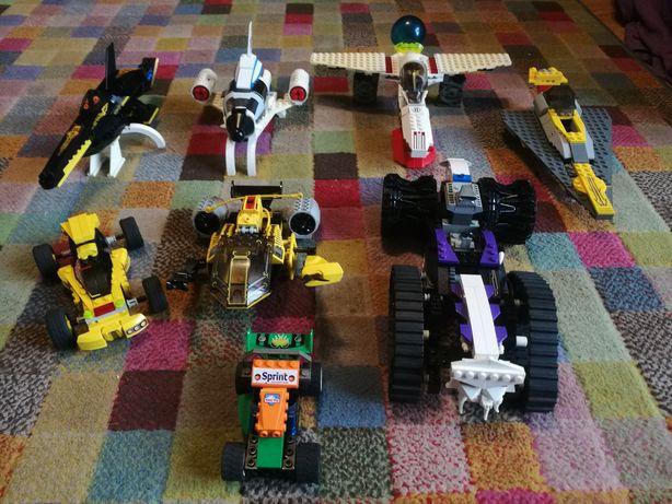 LEGO, klocki lego, pojazdy, statki kosmiczne, auta, samoloty, prom