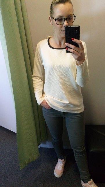 Nowa bluzka damska młodzieżowa z zamkiem r. M-XL lamówka rabat 25%