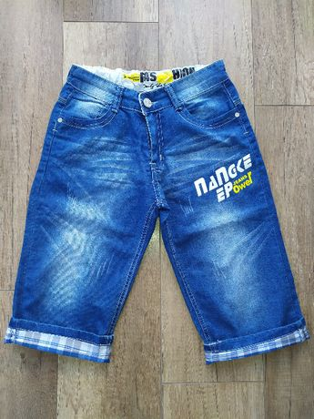NOWE Spodenki jeansowe 146/152