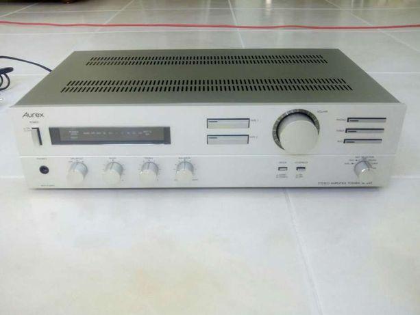 Amplificador Som + duas colunas Toshiba