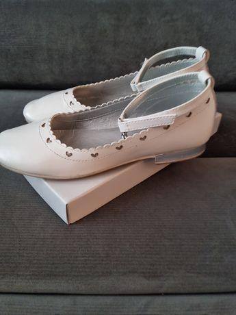 Buty do komunii białe Deichmann