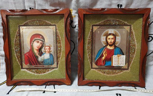Икона Иисуса Христа и Икона Богородицы