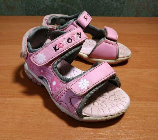 """Босоножки для девочки """"Котофей"""" розовые (26 размер). Хорошее состояние"""