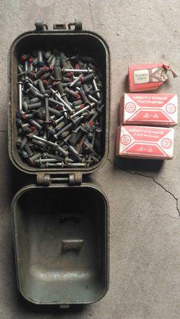 Патроны монтажные и дюбели с шайбой для пистолета