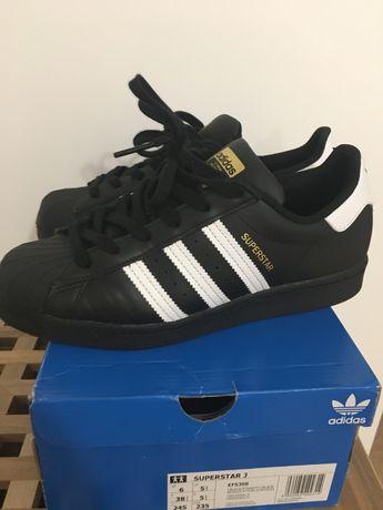 Adidas superstar 38 2/3 czarne jak nowe