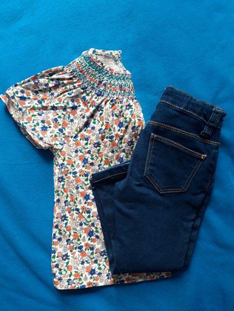 Komplet dla dziewczynki Zara tunika/koszulka + jeansy