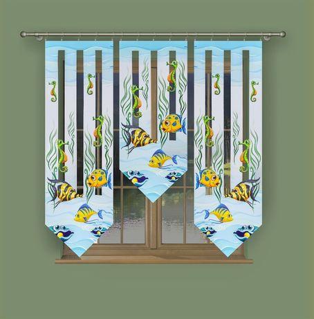 Firaneo.pl Firany gotowe panele dla dzieci, trzy wysokości, N299