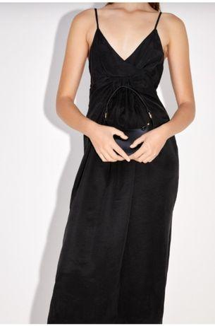 Vestido preto Zara XL delicado, confortável.