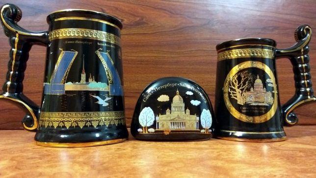 Кружки, чёрная коллекция, сувенирный набор PS