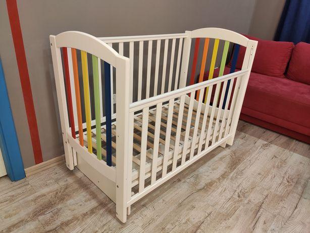 Детская кроватка Верес Веселка с маятником 120*60 + матрас Lucini
