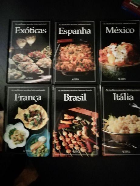 Coleção As melhores receitas internacionais - 6 livros Como Novos!