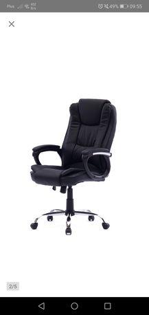 Fotel biurowy, obrotowy, duży,, nowy