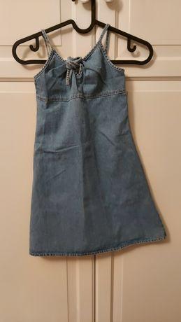 Jeansowa sukienka rozmiar 110 cm
