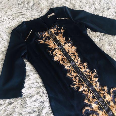 Два платья S-ки синее со стразами в идеал. сост. сукня плаття