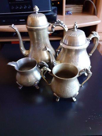 Platerowany srebrem zestaw do kawy i herbaty